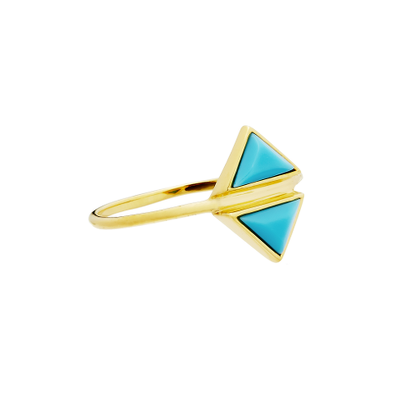 Fine Collection Ring- Gold Mirrored Triangle