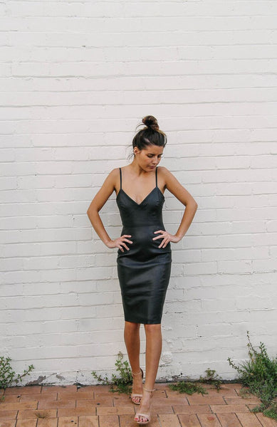 Bella Leather Dress