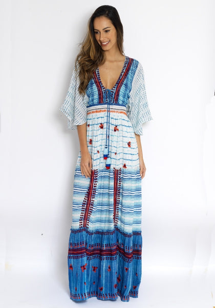 Frontier tie up Maxi Dress - Hemant & Nandita