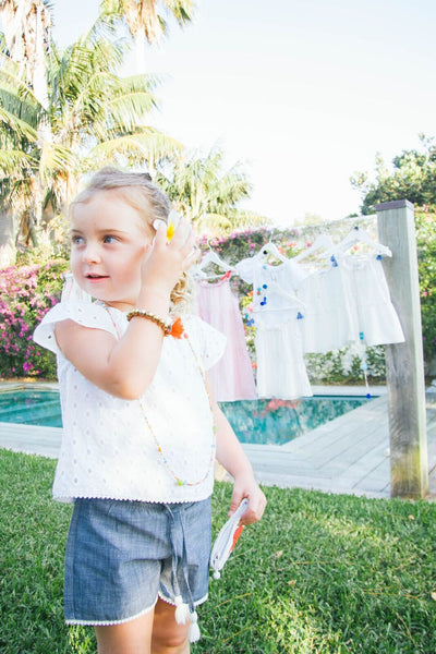 Amy denim shorts- Kids