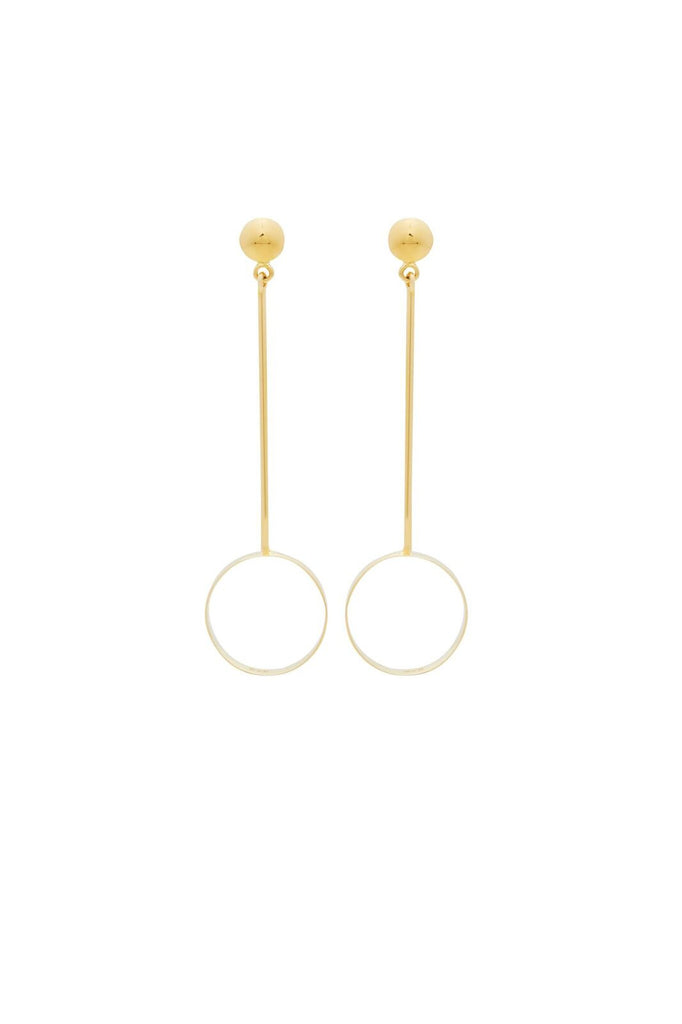 Fine Collection earring - long bar circle