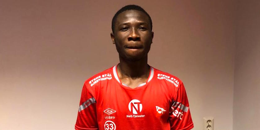Williams Danquah trials with Fredrikstad FK in Norway
