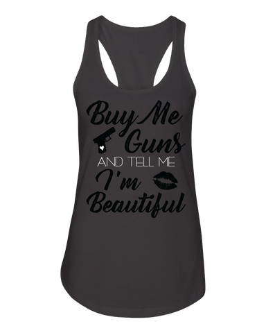 Buy Me Guns Charcoal Racerback