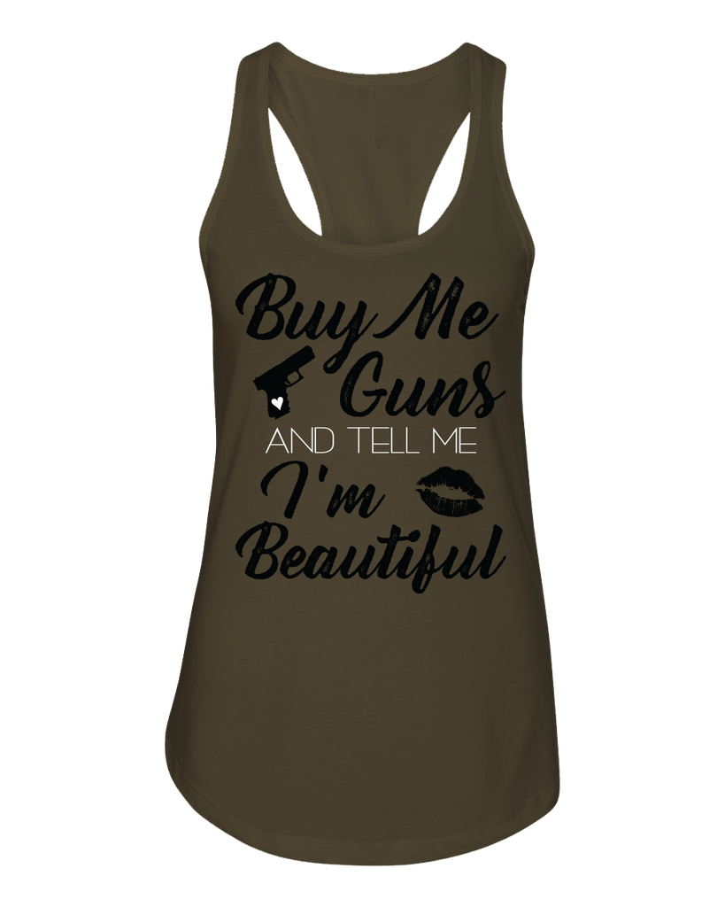Buy Me Guns Military Green Racerback