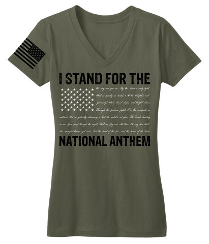 I Stand For The National Anthem V-Neck