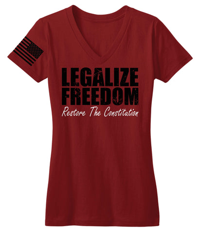 Legalize Freedom Restore The Constitution V-Neck