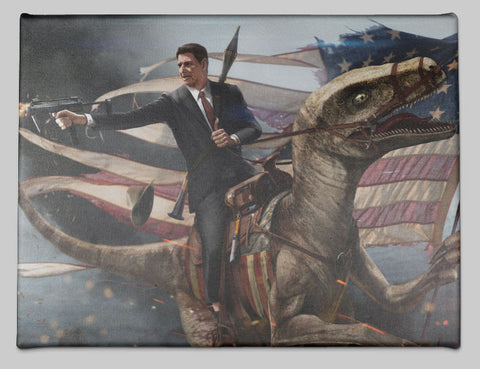 Ronald Reagan on a Raptor