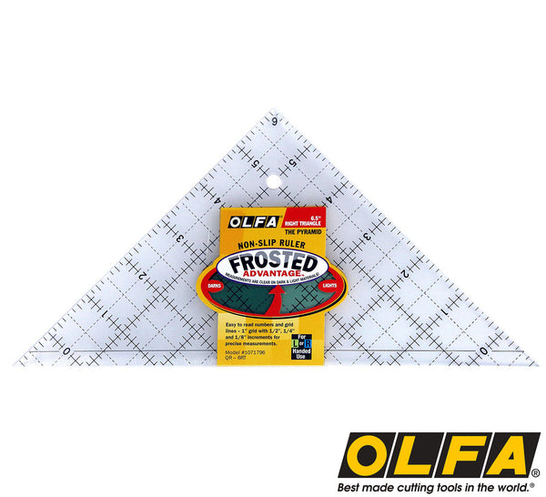 Olfa 174 6 1 2 Quot Triangle Non Slip Quilting Ruler Olfa Co Nz
