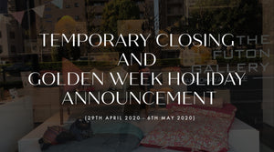 Temporary closing and the Golden Week holiday Announcement