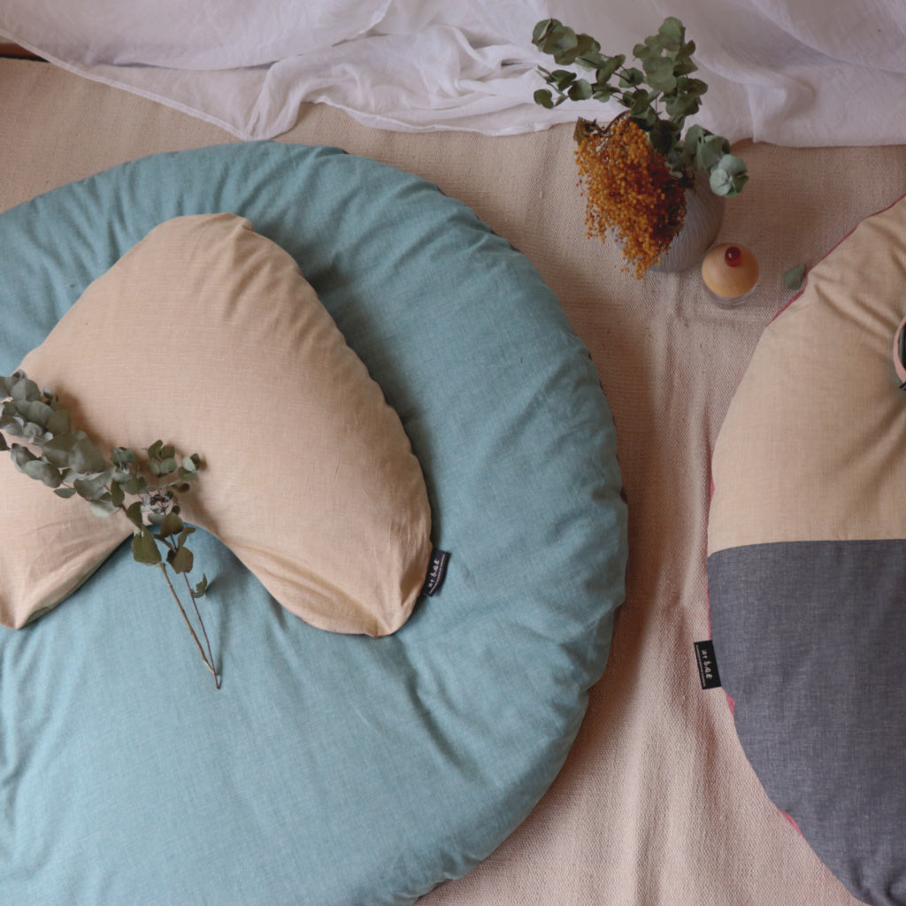 Buckwheat Utane Cushion and Senbei Zabuton Set - Takaokaya
