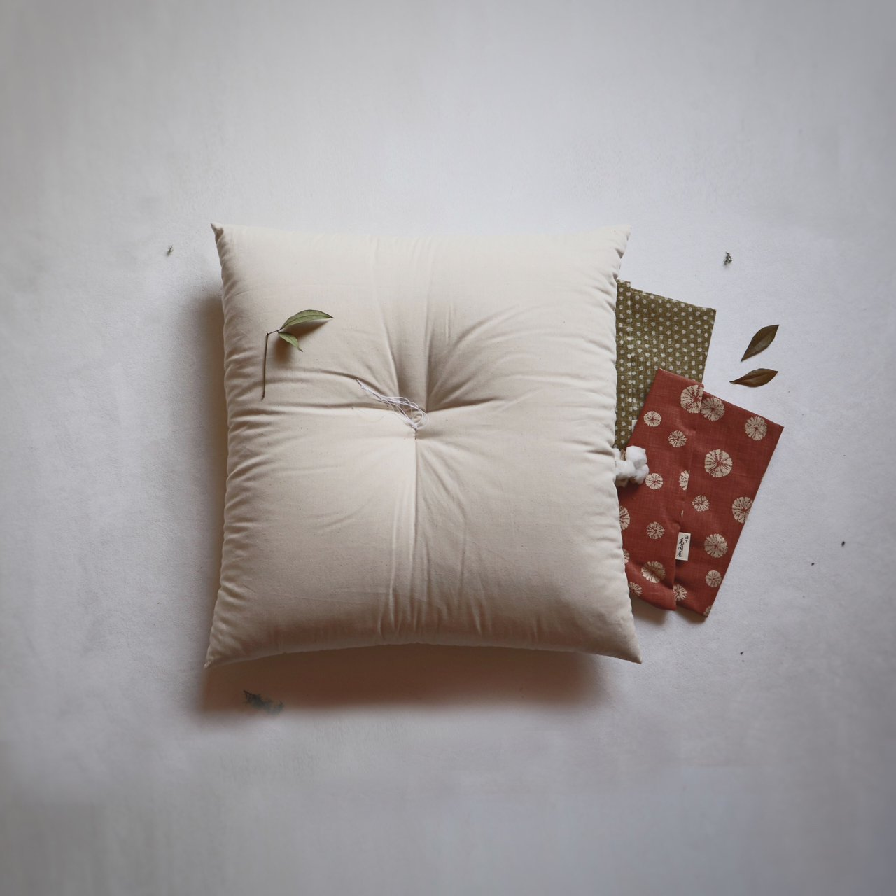 Kyoto Zabuton Cushion | Nude and Cover Set - Takaokaya