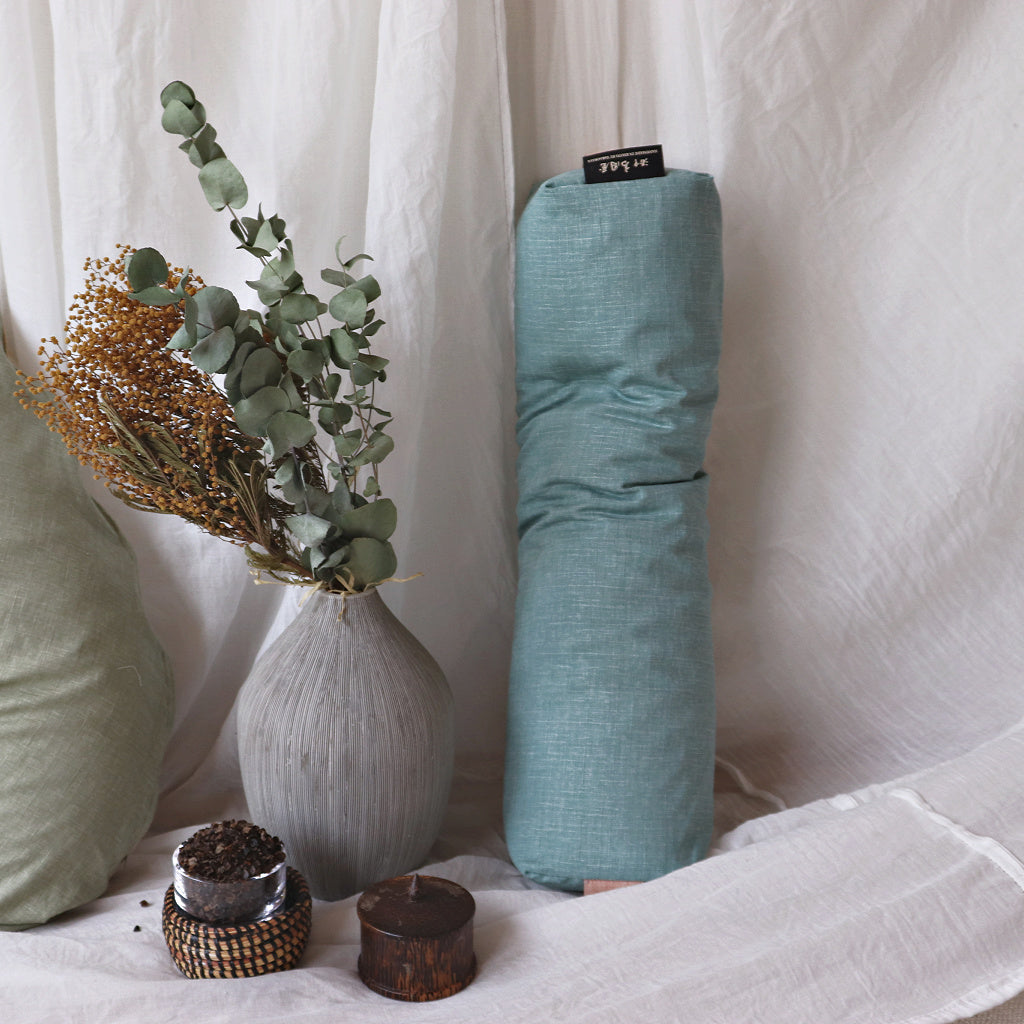 Coro-Long Pillow with cover | Series of buckwheat filling - Takaokaya