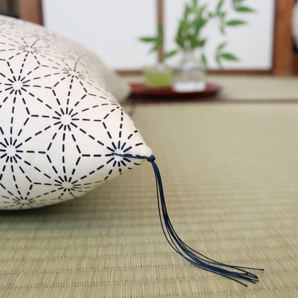 Kyoto Zabuton Cushion |  Asanoha | Global Online Store Limited - Takaokaya