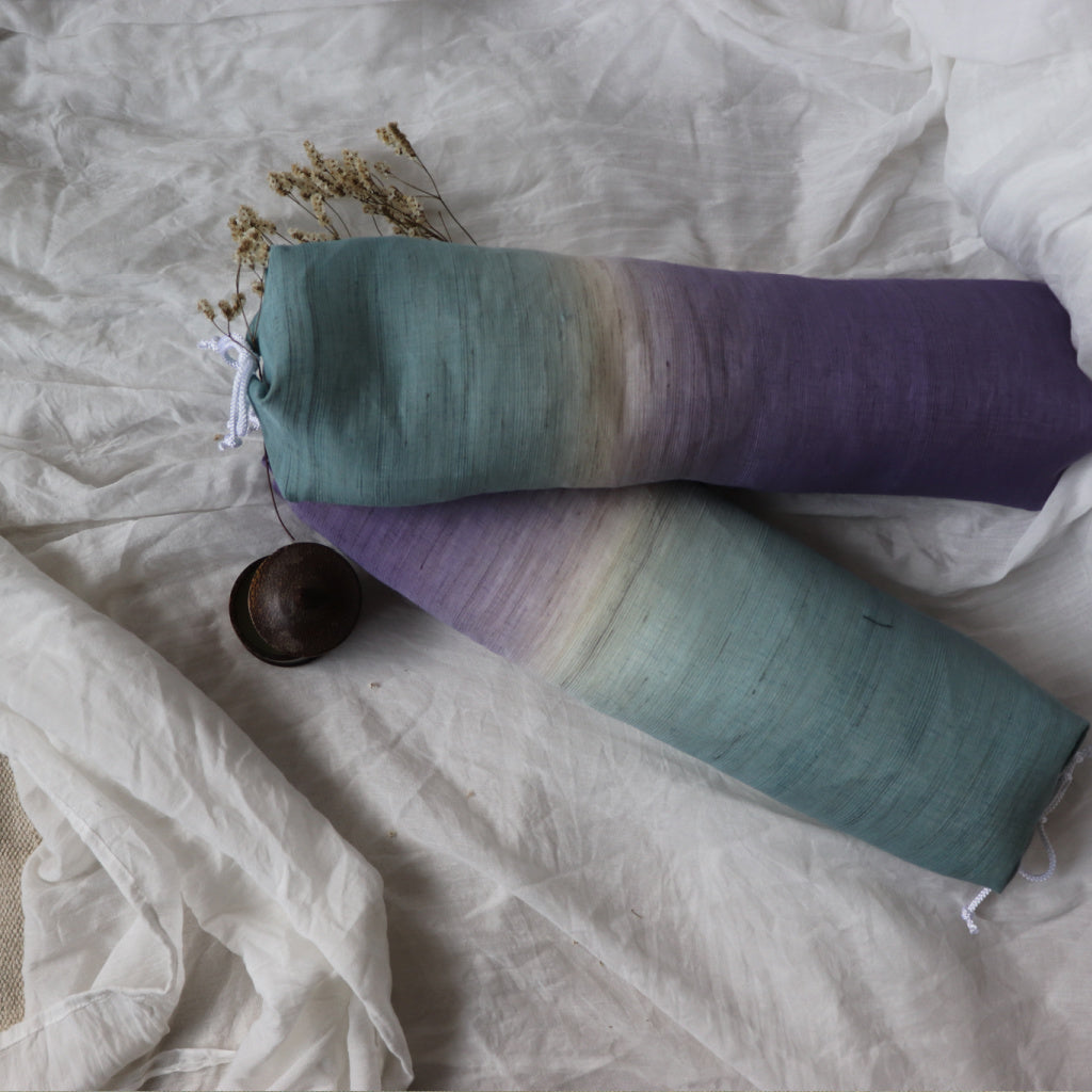 Long Pillow | Hikizome Dyed Linen - Takaokaya