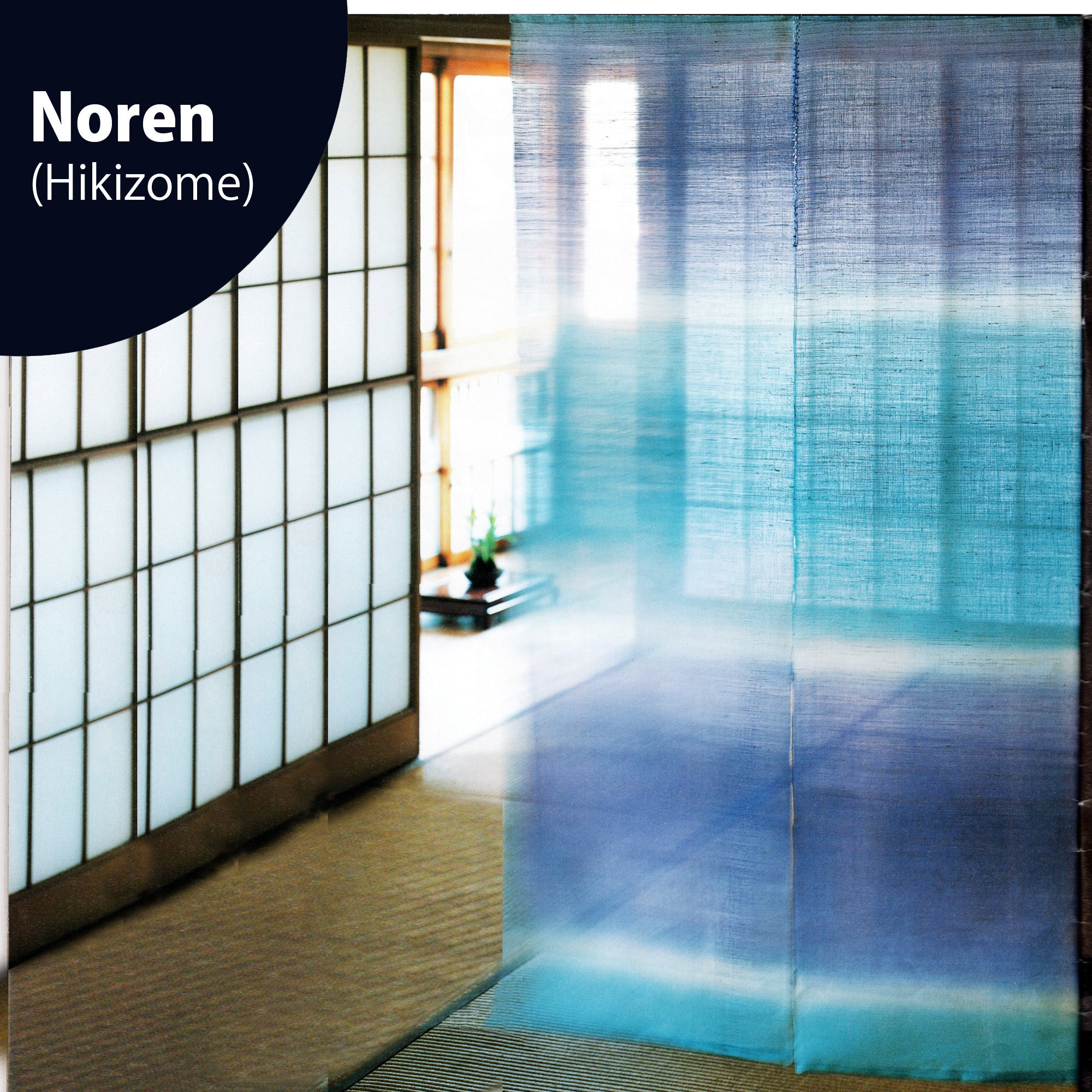 Noren (split curtains) | Hikizome dyeing (linen fabric) - Takaokaya
