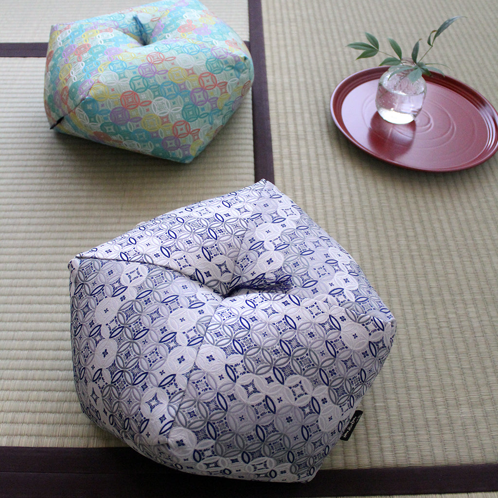 Ojami cushion | Shippo | Japanese lucky pattern - Takaokaya