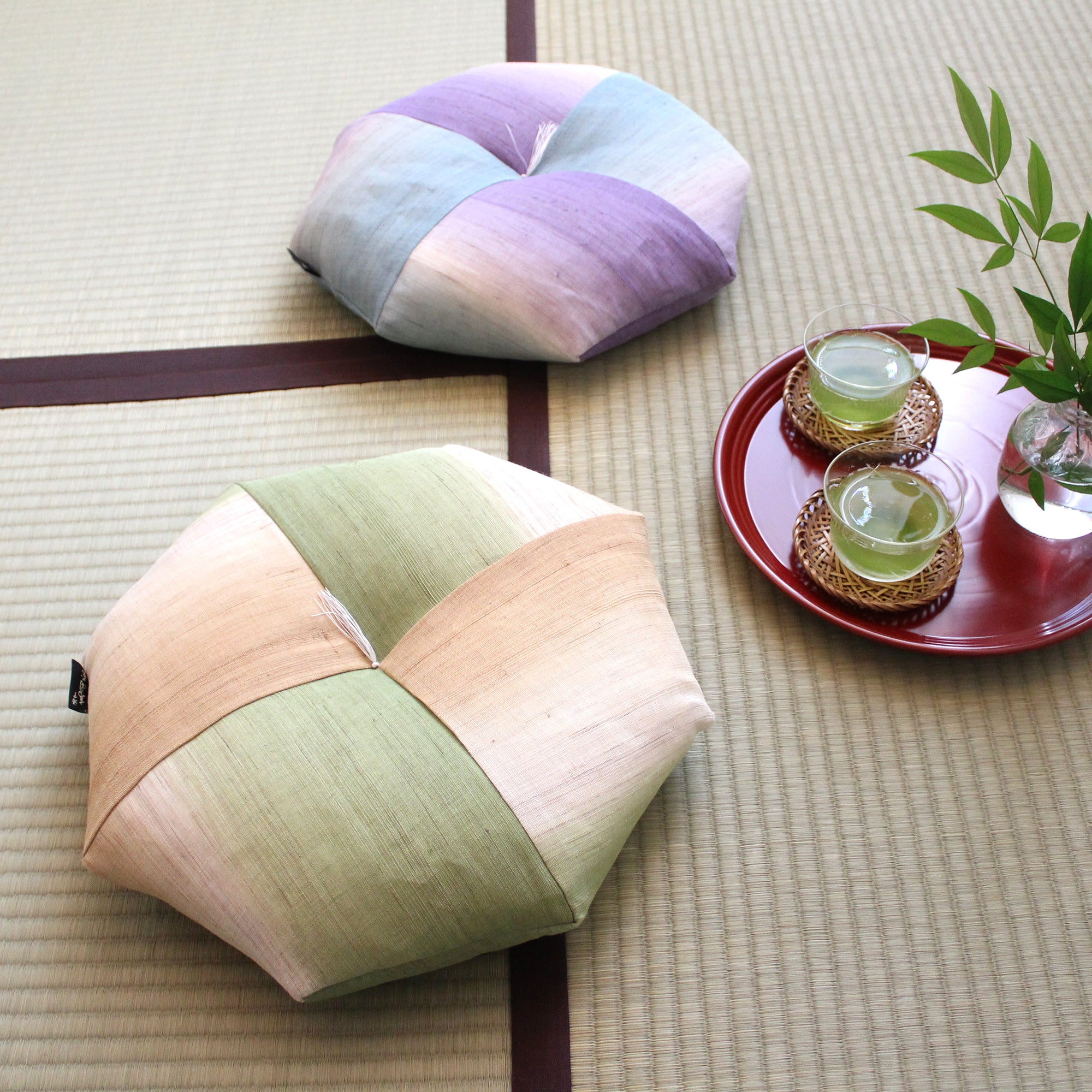 Ojami Flat Cushion | Hikizome - Takaokaya