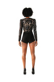 Sequin Embellished Tulle Multi -Purpose Body Suit - Nate Hutson Collection