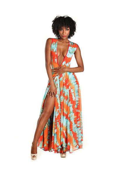 Body Suit and Maxi Wrap Skirt - Nate Hutson Collection