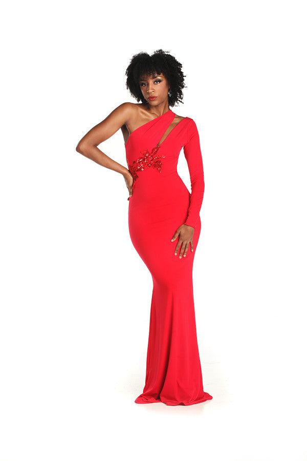 Red Jersey Knit Gown – Nate Hutson