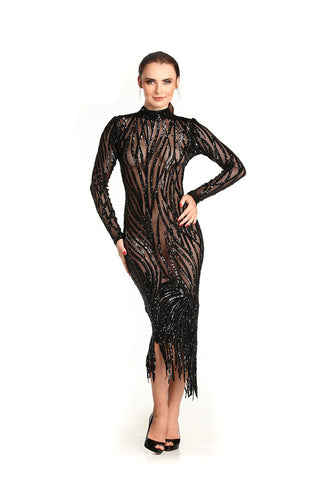 Sequin Embellished Tulle Dress - Nate Hutson Collection
