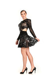 Sequin Embellished Tulle Full Circle Skirt - Nate Hutson Collection