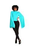 Cape Like Sleeves Blouse - Nate Hutson Collection