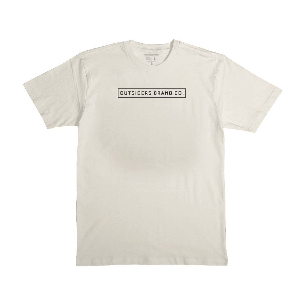 Outsider Basic Logo'17 - Off White - Men's Knit T-Shirt
