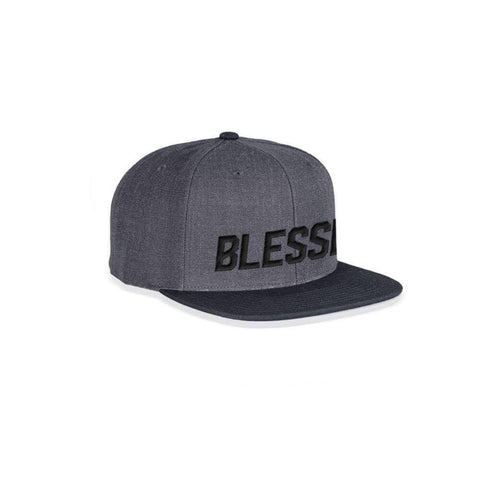 Blessed - Dark Heather - Woven Snapback