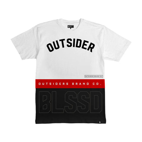 Outsiders Blessed G'D Up - White - Men's Knit T-Shirt