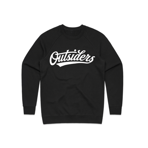 Tackle Twill BB Script | Black Crewneck