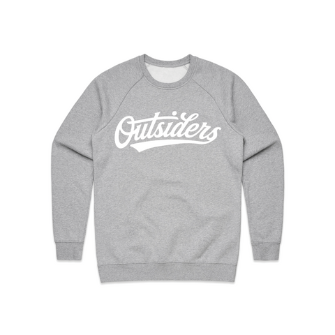 Tackle Twill BB Script | Heather Gray Crewneck