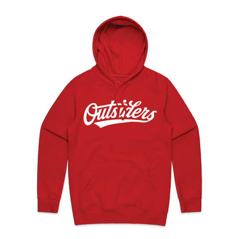 Tackle Twill BB Script | Red Hoodie