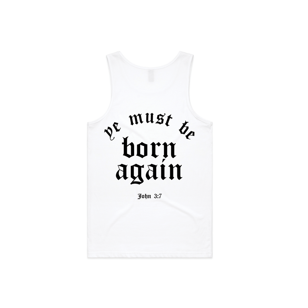 Born Again | White Tank Top