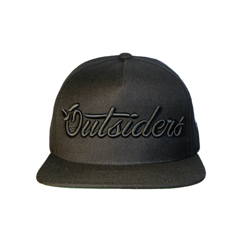 Outsiders Dove Logo | Black on Black Snapback