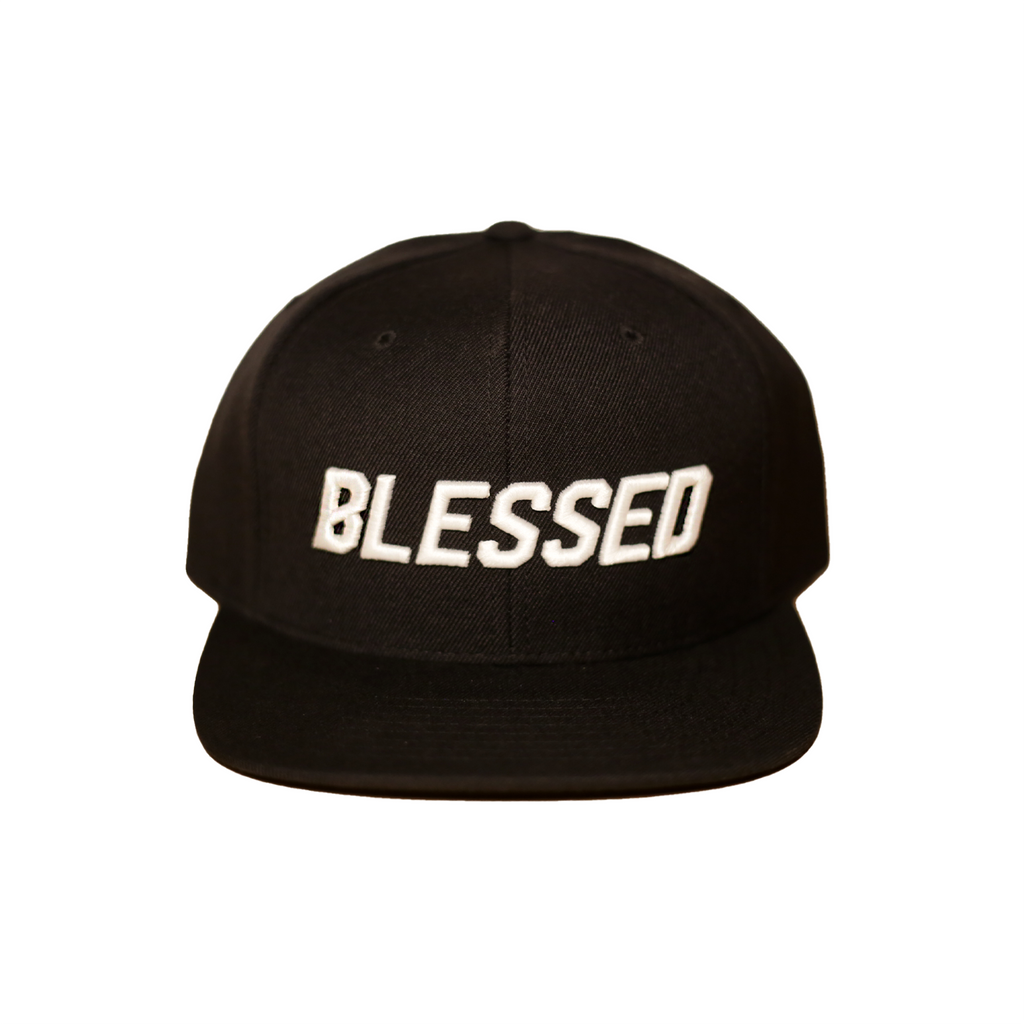 Blessed - Black - Woven Snapback