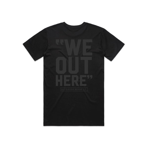 Outsiders Varsity | Black on Black T-Shirt