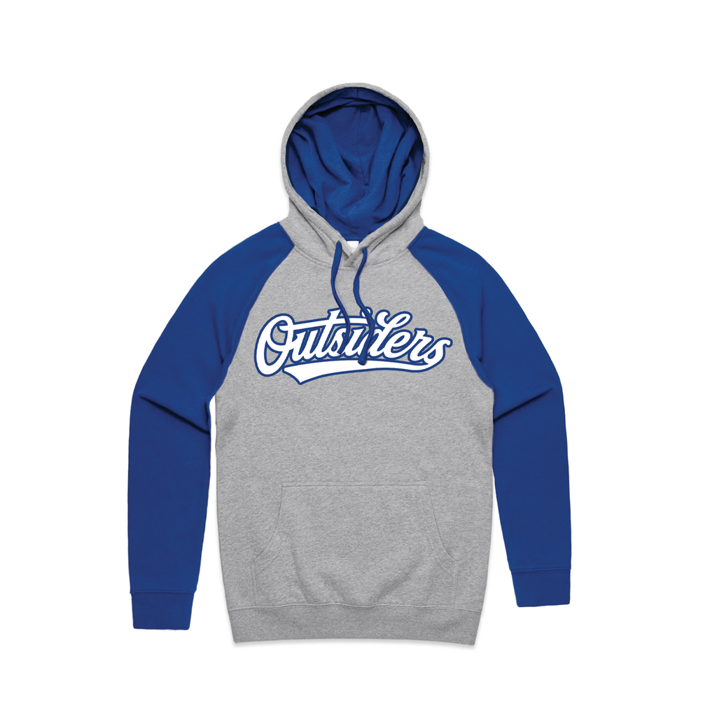 BB Script | Heather Grey Blue Hoodie