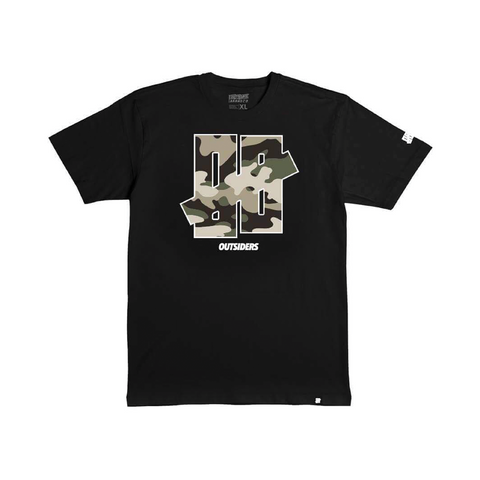 Outsiders 00 Camo | Black T-Shirt