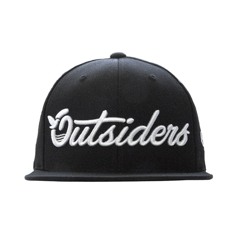 Outsiders Dove Logo - Black - Woven Snapback