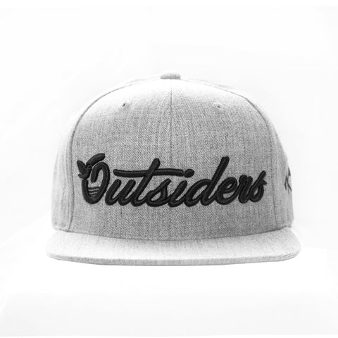 Outsiders Dove Logo - Heather Grey - Woven Snapback