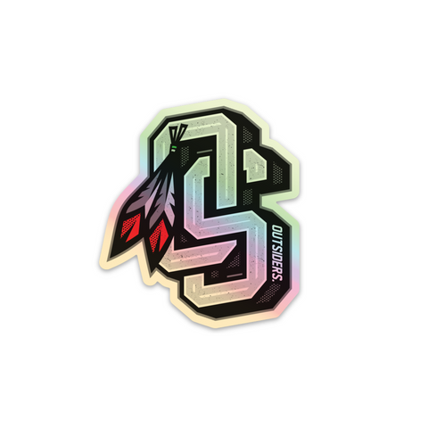 OS Feather | Holographic Sticker