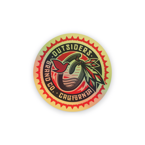 Outsiders Warrior | Holographic Sticker