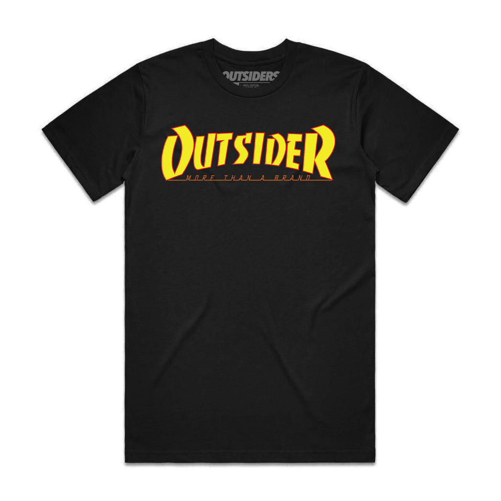 Thrasher Flip  | Black T-shirt