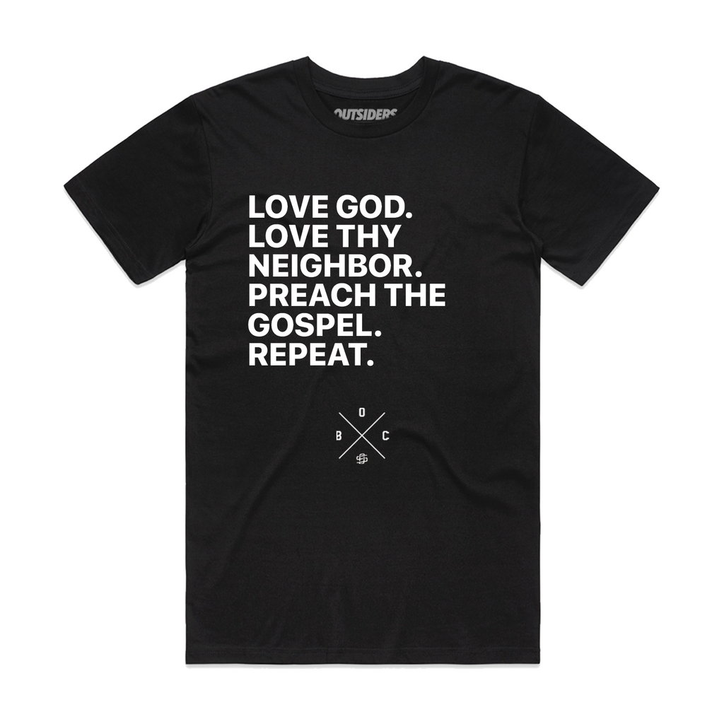 Essential Acts | Love God | Black T-Shirt
