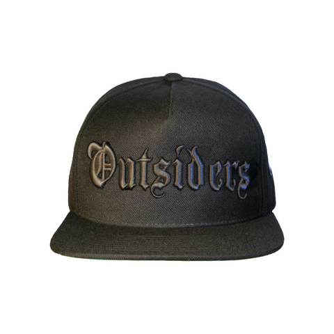 OE Outsiders Logo | Black on Black Snapback