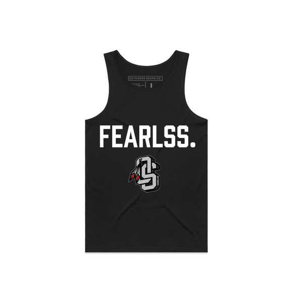 OS Fearless | Black Tank Top