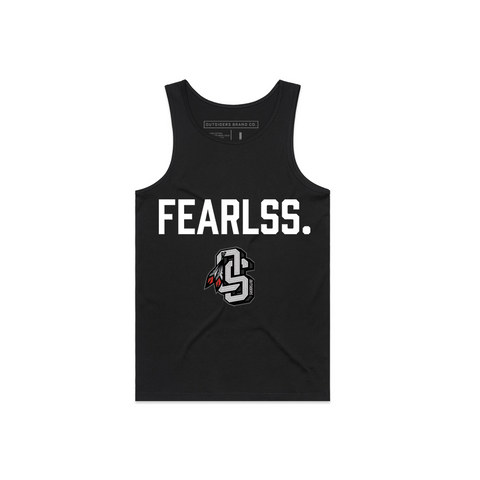 Embroidered OS Fearless | Black Tank Top