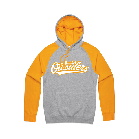 BB Script | Heather Grey Yellow Hoodie