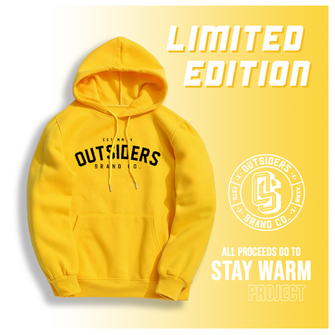 Yellow Project Hoodie - All Proceeds Go To Stay Warm Project